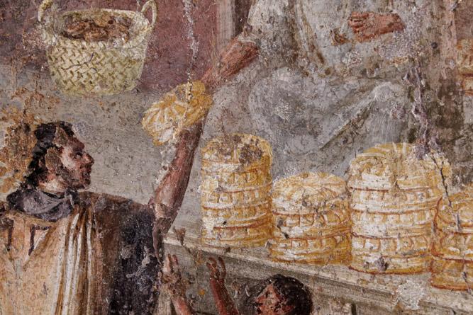 Fresco brooduitdeling, Pompeii