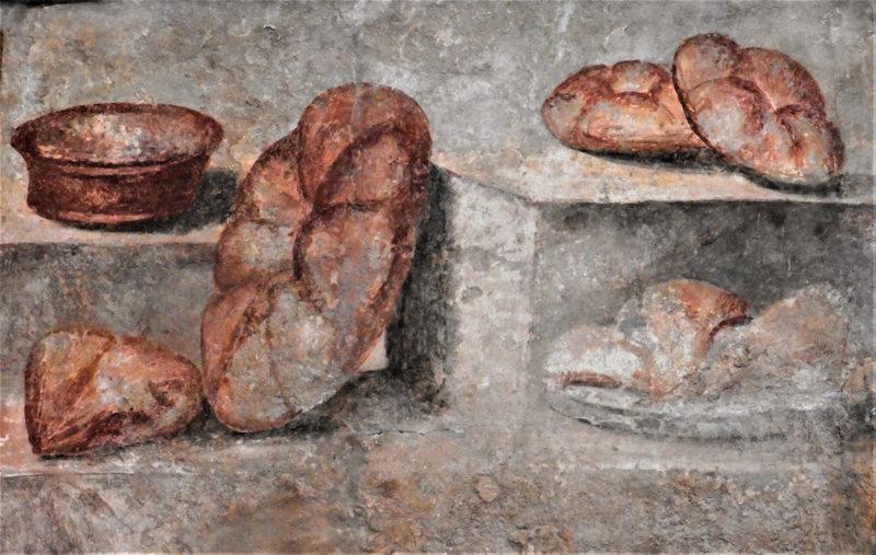 Fresco Panis Quadratus, Pompeii