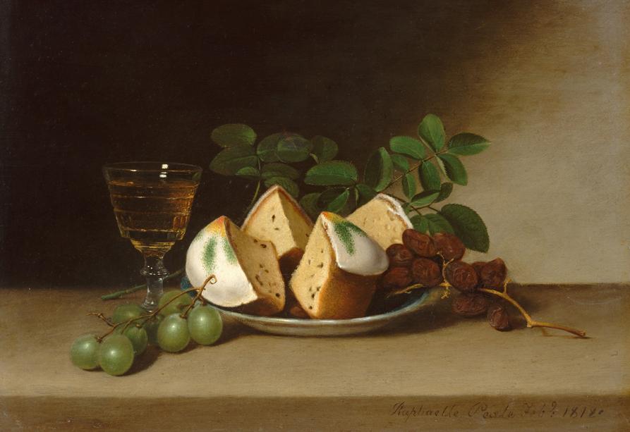 Stillven met vruchtencake, Raphaelle Peale, 1818, Metropolitain Museum, New York